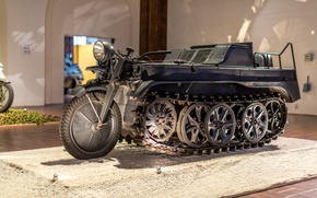 Картинка Kettenkrad HK 101, SdKfz 2, полугусеничный мотоцикл, Германия, Вторая мировая война, экспонат, музей