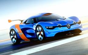 Картинка Concept, Машина, Концепт, Синяя, Desktop, Renault, Car, Автомобиль, Рено, Beautiful, Wallpapers, Обоя, Alpine, A110-50, Automobile, …