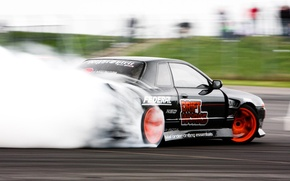 Обои nissan, drift, R32, skyline