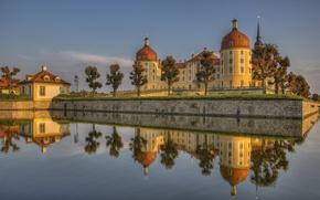 Обои Saxony, отражение, Germany, Германия, Moritzburg Castle, замок, Замок Морицбург, Саксония, вода, Морицбург, Moritzburg