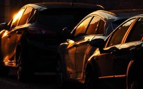 Картинка машины, ночь, город