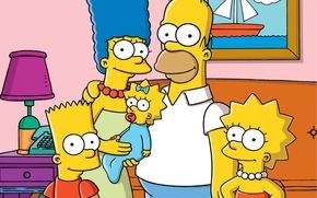 Обои мультфильм, семья, симпсоны, снимок, the simpsons