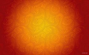Обои узор, оранжевый, dezinelabs