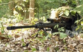 Картинка лес, засада, снайпер, винтовка