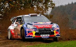 Картинка rally, ралли, Loeb, wrc, citroen, ds3, Уельс, GB Wales