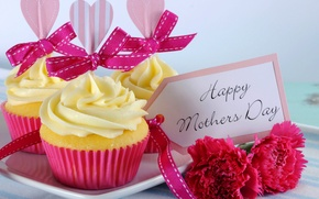 Картинка цветы, праздник, сердце, еда, карта, букет, торт, cake, крем, десерт, heart, flowers, holiday, cream, dessert, ...