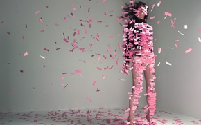 Картинка бумага, розовый