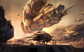 Картинка Корабль, Blizzard, Арт, Взлет, Projet titan