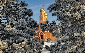 Картинка зима, собор, Россия, Темиртау