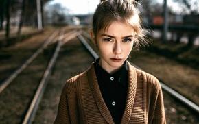 Картинка девушка, портрет, Alexey Gromakov, Colour and Shape