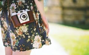 Картинка девушка, макро, фотоапарат
