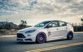 Картинка white, ford, tuning, focus