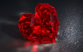 Картинка сердце, red, бриллиант, heart, diamond, brilliant, jem