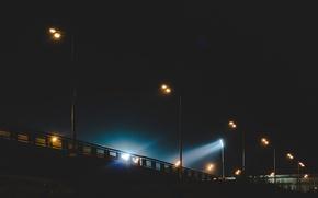 Картинка осень, вечер, фонари, россия, казань
