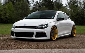 Картинка Volkswagen, Scirocco R, Vossen, Wheels