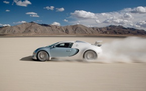 Обои пустыня, Bugatti, Veyron