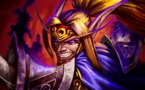 Картинка карта, арт, WoW, World of Warcraft, Hearthstone, кровавый эльф, Shadow Madness, Тёмное безумие