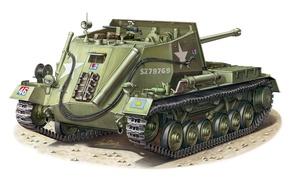 Картинка Арчер, рисунок, Archer, саиоходно-артиллерийская установка(САУ), английская, Вторая мировая война
