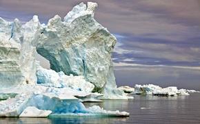 Картинка холод, вода, океан, лёд, айсберг, мороз, льды, льдина, Гренландия, Greenland
