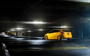Картинка Ford, фокус, парковка, Focus, форд, yellow