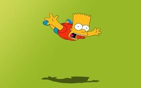 Обои мультфильм, симпсоны, полёт, барт, the simpsons, bart