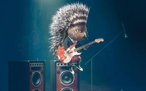 Картинка Гитара, Movie, Sing, Зверопой, дикообраз