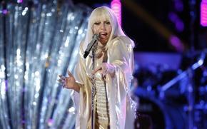 Картинка девушка, музыка, music, концерт, шоу, певица, знаменитость, singer, live, Lady Gaga, pop, Леди Гага, show, ...