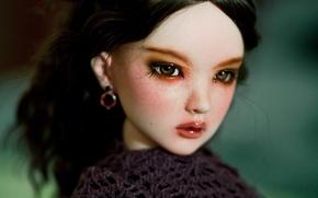 Картинка кукла, карие глаза, doll, BJD