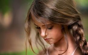 Картинка девочка, портрет, child photography, Lost in Thought, локоны
