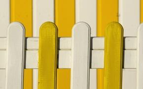 Картинка доски, забор, краски, домик, белый, желтый