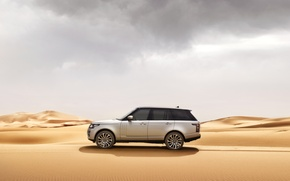 Обои песок, car, машина, пустыня, Range Rover, рендж ровер, Land Rower