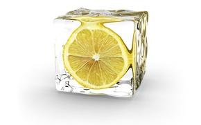 Обои минимализм, Ice Cube, Лимон