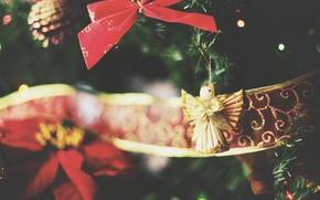 Картинка игрушка, новый год, рождество, ангел, ёлочное украшение