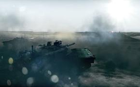 Обои блики, война, дым, сражение, танки, Battlefield 3
