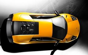 Обои сверху, Lamborghini, 157, желтый