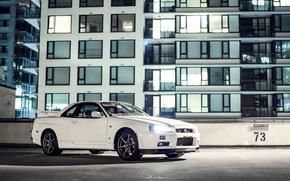 Картинка Nissan, GT-R, Night, Skyline, R34, V-Spec