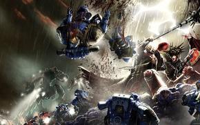 Картинка Horus Heresy, Warhammer 40000, space marine, Angron, titan, Betrayer, Lorgar, Ultramarine, Primarchs