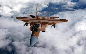 Картинка облака, Самолет, истребитель