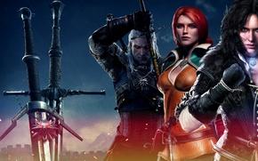 Картинка Triss Merigold, The Witcher 3: Wild Hunt, Geralt, Ведьмак 3: Дикая Охота, Yennefer