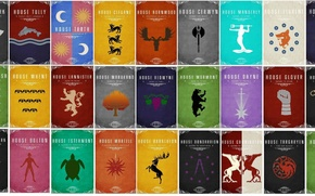 Картинка A Song of Ice and Fire, Game of Thrones, Stark, Targaryen, Lannister, Tyrell, Greyjoy, Baratheon, …