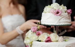 Обои Невеста, Торт, Свадьба