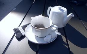 Картинка cup, sugar, tea, teapot, saucer