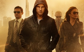 Обои Том Круз, Tom Cruise, миссия невыполнима: протокол фантом, mission: impossible, ghost protocol, Paula Patton, Джереми ...