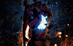 Картинка cinema, fire, battlefield, flame, war, Iron Man, movie, ruins, hero, film, armour, Robert Downey Jr., …