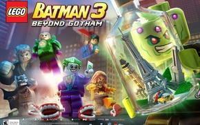 Картинка city, Hero, Joker, bat, Superman, videogame, Dc Comics, Beyond Gotham, villains, LEGO Batman