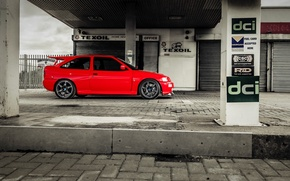 Картинка car, red, ford, lady, speedhunters, cosworth