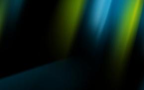 Обои black, черная, абстракция, Windows, синий, зелёный