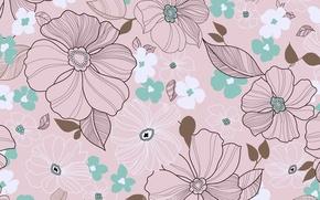 Картинка цветы, фон, нежно