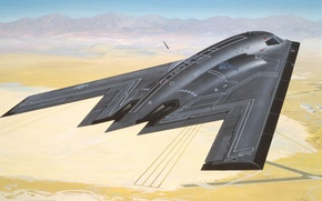 Картинка авиация, обои, самолёт, Northrop B2 Bomber