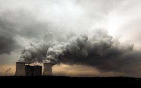 Картинка трубы, дым, экология